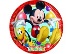 Lot de 8 assiettes jetables en carton Mickey 23 cm