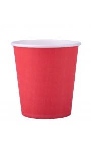 Lot de 25 gobelets en carton rouge 20 cl