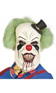 Masque  Clown horreur en latex avec cheveux Halloween luxe