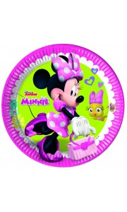 Lot de 8 asssiettes jetables en carton Minnie