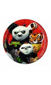 Lot de 8 assiettes Panda Trop mignon 23 cm