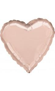 Ballon coeur aluminium rose gold 43 cm