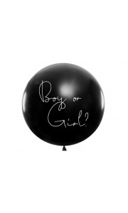 Ballon Gender Reveal garçon latex 1m