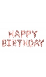 Ballon lettres Happy Birthday rose gold 340 x 35 cm