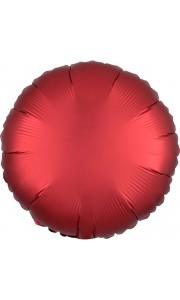 Ballon rond satin luxe rouge 43 cm