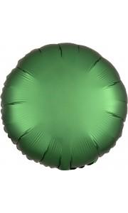 Ballon rond satin luxe vert emeraude 43 cm