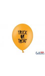 Lot de 6 Ballons Trick or Treat Halloween orange 30 cm