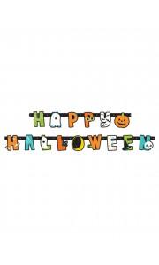 Bannière Happy Halloween 2,74 m x 11 cm