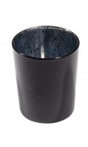 Bougeoir verre noir 5.5 x 6.7 cm