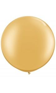 Ballon de baudruche géant en latex métalisé or