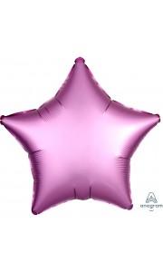 Ballon étoile satin luxe rose 43 cm