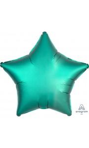 Ballon étoile satin luxe vert jade 43 cm