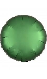 Ballon rond satin luxe vert jade 43 cm