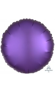 Ballon rond satin luxe violet 43 cm