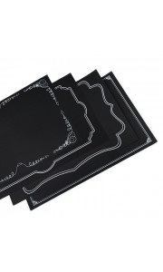 Bloc de 48 sets de table noirs 46 x 31 cm