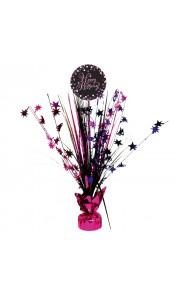 Centre de table Sparkling celebration rose Happy Birthday