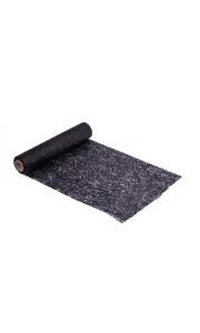 Chemin de table paillettes noires 28 cm x 3 m