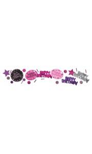 Confettis Sparkling Celebration roses Happy Birthday