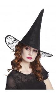 Chapeau de sorcière Kiara noir  Halloween
