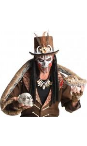 Chapeau Vaudou Witch Doctor avec dreads locks Halloween