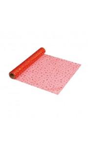 Chemin de table Etoiles Rouges Organza 28 cm x 5 m