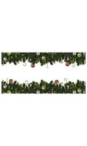 Chemin de table sapins ornements Noël 30 cm x 5 m