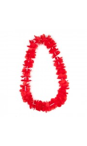 Collier hawai rouge