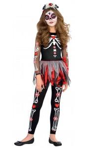 Déguisement Squelette Jour des morts Halloween 10/12 ans