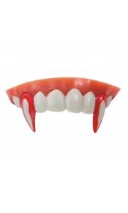 Dentier vampire canines ensanglantées luxe Halloween