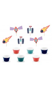 Kit de 6 cupcakes Space Party