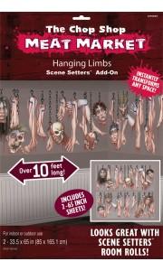 Kit de décoration murale Scene setter parties du corps humain Halloween