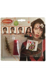 Kit de maquillage Reine de Coeur Halloween