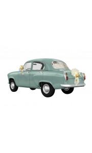 Kit voiture ivoire Vive les Mariés 6 pièces