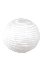 Lanterne japonaise ronde blanche 35 cm