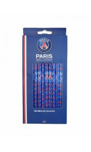 Lot de 12 crayons de couleurs PSG