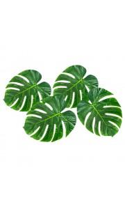 Lot de 4 feuilles palmier en plastique tailles assorties à disperser