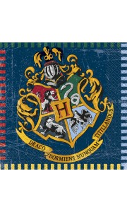 Lot de 16 serviettes Harry Potter 33 x 33 cm