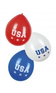 Lot de 3 ballons USA bleu blanc rouge D 25 cm