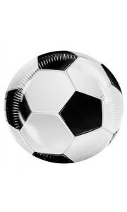 Lot de 6 assiettes Football D 23 cm
