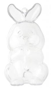 Lapin transparent PM 3,7 x 9 cm