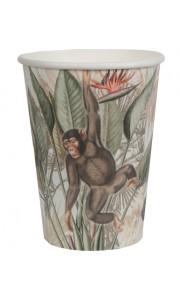 Lot de 10 gobelets Jungle 7,8 x 9,7 cm