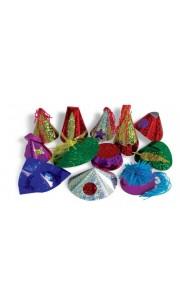 Lot de 100 Chapeaux Hologramme multicolores