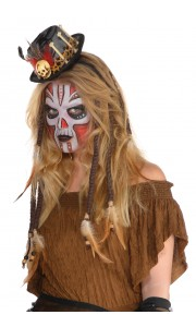 Lot de 2 extensions de cheveux Vaudou Witch Doctor Halloween