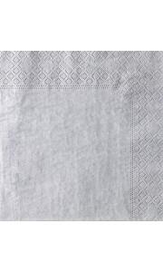 Lot de 20 serviettes en papier Argent 33 x 33 cm