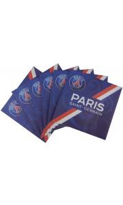 Lot de 20 serviettes jetables PSG 33 x 33 cm