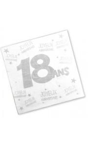 Lot de 24 serviettes jetables 18 ans 3 plis