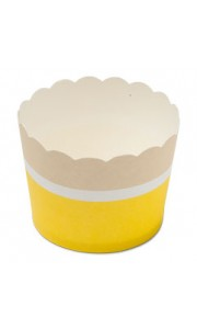 Lot de 25 cakes cup Citron en carton D 6 cm