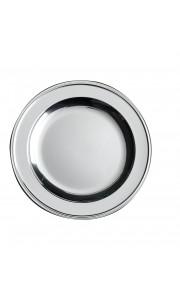 Lot de 6 assiettes rondes jetables Argent 18 cm