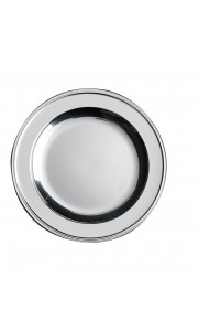Lot de 6 assiettes rondes jetables Argent 23,5 cm