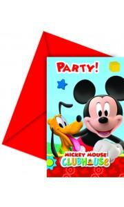 Lot de 6 cartes d'invitation Mickey